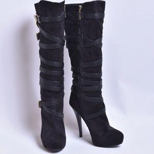 Bebe Tall Heel Boots, Sz 6